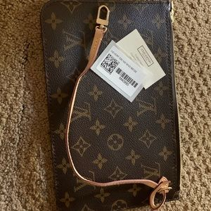 Louis Vuitton authentic clutch makeup bag